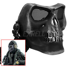 Skull Skeleton Full Face Mask Tactical Paintball Airsoft Hunting Protect Safety
