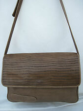 AUTHENTIQUE  sac besace  en  cuir  vintage LITHOS MILANO ITALY (T)BEG   bag