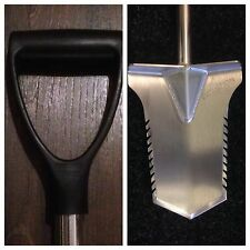 Metal Detecting Evolution ProCut Plastic D  handle Spade Stainless Steel Digging