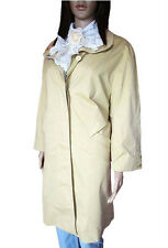 Germany Vtg 80s Womens Beige MICRO SPORTIV Autumn Spring Trench Coat sz 14 AL90