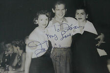 Rare JOHNNIE RAY signed picture with CLOVER CLUB background