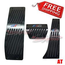 ALUMINUM Pedals BMW M Tech E30 E36 E46 E87 E90 E91 E92 E93 AUTO Black 3 PCS