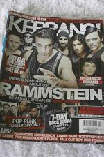 KERRANG No 1297. Jan 30 2010 Ramstein/My Chemical Romance/Pop-Punk