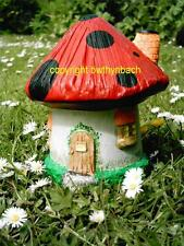 NEW RUBBER LATEX MOULD MOULDS MOLD GARDEN FAIRY FAIRIE MUSHROOM TOADSTOOL HOUSE