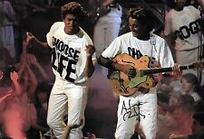 andrew ridgeley george michael WHAM on stage 1980's signed 12x8 photo PROOF