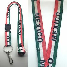 Mexico Flag Clip On Keychain Lanyard