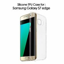 CRYSTAL CLEAR GEL TPU SOFT BACK COVER CASE for Samsung Galaxy S7 Edge UK