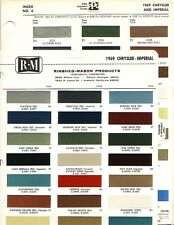 1969 CHRYSLER NEW YORKER IMPERIAL PAINT CHIPS (PPG AND R-M)