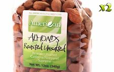 24oz Gourmet Style Bag of UnSalted Roasted Almonds [1 1/2 lbs.]