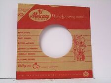 1- MERCURY RECORD COMPANY 45's SLEEVES LOT # 305-B WITH REMOVEABLE CORNER