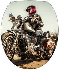 Aufkleber -deckel WC deko Motorrad 35x42cm Ref 2133