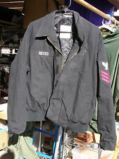 US Navy Military Utility Unisex Jacket Large-Short Dark Blue With Sergeant Patch