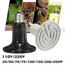 25-250W Infrared Ceramic Emitter Heat Lamp Light Bulb for Reptile Pet Brooder