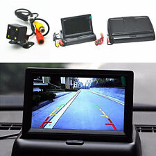 "Car SUV Rear View 4.3"" Foldable Monitor 4LED Night Vision Reverse Parking Camera"
