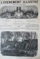 RUINE COMMUNE PARIS KABYLIE GRAVURES JOURNAL L EVENEMENT ILLUSTRE N° 21 de 1871