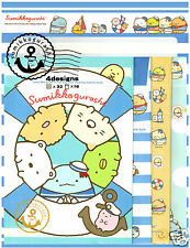 San-x Sumikko Gurashi Sail Friends 4-Design Kawaii Letter Set