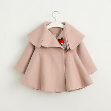 Gorgeous Baby Girl's/toddler Pink/Green Woolen trench coat/Jacket