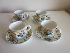 Villeroy and Boch Castellina Cups and Saucers set of 4