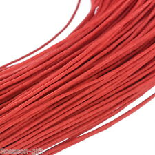 """80M(3149-5/8"""") Red Waxed Cotton Cord 1mm for Bracelet/ Necklace"""