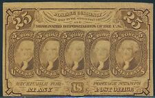 Fr1281 25¢ 1St Issue Fractional Currency S.E. With Monogram Br3272
