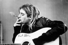ROCK MUSIC POSTER Kurt Cobain Smoking