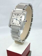 CARTIER TANK FRANCAISE 2302 LARGE AUTOMATIC STAINLESS STEEL *MINT CONDITION*