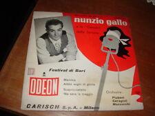 NUNZIO GALLO LE CANZONI DELLA FORTUNA  FESTIVAL DI BARI E.P.  ITALY'57