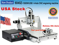 USA Stock 4 Axis 6040 1500W USB Mach3 CNC Router Engraver Engraving Machine 110V
