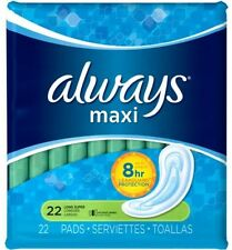 Always Maxi Long Super Pads Without Wings, 22 Count