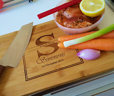 Personalized chopping cutting board, free stand, wedding gift, house warming
