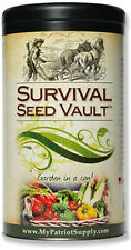 Survival Seed Vault - Non-GMO Heirloom Emergency Survival Seeds - 20 Varieties