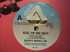 "Barry Manilow ""Read 'Em And Weep"" Scarce Oz 7"""