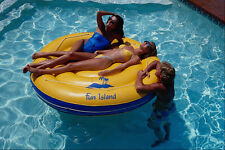589099 Two Girls And A Guy On A Pool Float A4 Photo Print