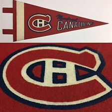 Vintage 1970 Montreal Canadiens   4x9.5 Vintage MINI Pennant NHL Hockey