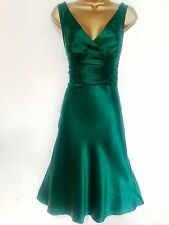 MONSOON ✩ STUNNING CATRINA EMERALD GREEN ORIANE SILK COCKTAIL DRESS ✩ UK 20 BNWT