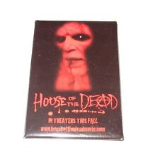 RARE 2003 HOUSE OF THE DEAD MOVIE PROMO BUTTON HORROR UWE BOLL CLINT HOWARD PIN