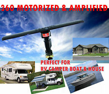 DIGITAL HD ANTENNA outdoor RV CAMPER MOTORHOME USE 360 MOTORIZED & AMPLIFIED