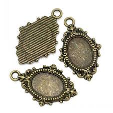 2 Pendentifs Supports pour camée ovale bronze