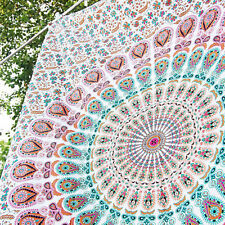 Hippie Indian Tapestry peacock Mandala Throw Wall Hanging BOHOMEIN Bedspread-UK