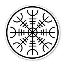 Aegishjalmur / Helm of Awe- cool, Norse Viking vinyl car, van decal sticker