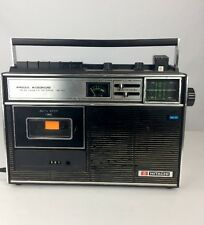Vintage Hitachi TRK-1271  FM/AM Cassette Recorder -with Condenser Microphone
