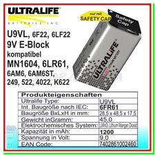 Batteria Pila ULTRALIFE litio 9v Transistor Come Saft LS 9v Li-SOCl2