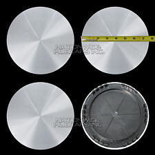 "4 CHEVY GMC 15"" Smooth Aluminum 5 Lug Wheel Center Hub Caps Hubs Rim Nut Covers"