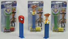 PEZ DISNEY PIXAR TOY STORY BUZZ LIGHTER YEAR, WOODY & SPIDERMAN PEZ DISPENSERS