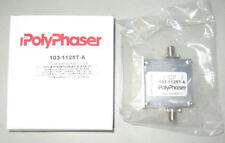 New PolyPhaser Coax EMP Surge Filter/Suppressor 2.5Ghz 75 OHM Lightning Arrestor