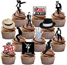 12 x michael jackson gâteau toppers valeur party pack amusant comestible décorations bad