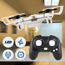 Mini 4Ch 4 Axis 2.4G Nano RC Quadcopter Small Quad Drone LED Airplanes RTF White