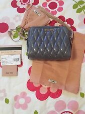 Miu Miu Vit. Shine Trapu Leather Crossbody Bag-NWT