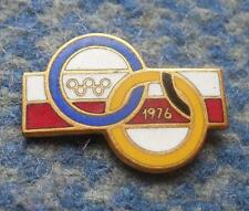NOC POLAND OLYMPIC INNSBRUCK MONTREAL 1976 - 2 TIER PIN BADGE