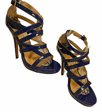 Jimmy Choo Strappy Sandal Patent Blue Size 39 Sandals High Heels Women's Shoes